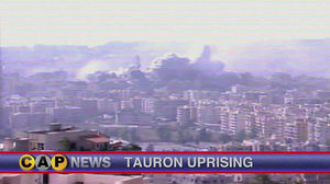 The Second Tauron Uprising depicted on Caprican television