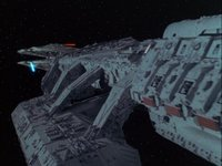 Die Galactica, kurz vor ihrem großen Angriff